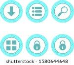 6 basic elements icons sheet...