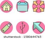 6 icon set of basic elements...