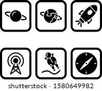 6 astronomy icons for personal... | Shutterstock .eps vector #1580649982