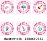 6 astronomy icons for personal... | Shutterstock .eps vector #1580650852
