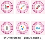 6 astronomy icons for personal... | Shutterstock .eps vector #1580650858