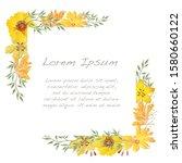 vector watercolor floral frame...   Shutterstock .eps vector #1580660122