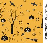 halloween element pattern.... | Shutterstock .eps vector #1580704762