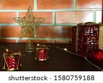 brick wall with christmas...   Shutterstock . vector #1580759188