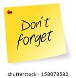 Yellow Sticky Note With Don't Forget Message