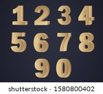 set years anniversary. gold 3d... | Shutterstock .eps vector #1580800402