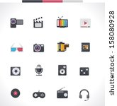 vector video and audio... | Shutterstock .eps vector #158080928