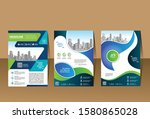 abstract cover and layout for... | Shutterstock .eps vector #1580865028
