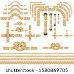 rope border vector elements... | Shutterstock .eps vector #1580869705