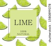 Stylized Green Lime On A White...