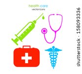 medical icons | Shutterstock .eps vector #158093336