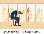 professional burnout syndrome.... | Shutterstock .eps vector #1580948848
