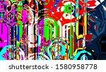 festive decoration. colorful... | Shutterstock . vector #1580958778