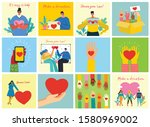 vector illustration of donation ... | Shutterstock .eps vector #1580969002