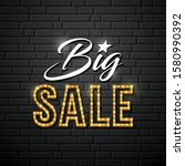 big sale vector message gold... | Shutterstock .eps vector #1580990392