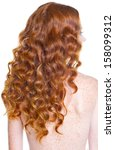 curly red hair  | Shutterstock . vector #158099312