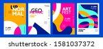colorful new trend abstract... | Shutterstock .eps vector #1581037372