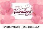 happy valentines day banner...   Shutterstock .eps vector #1581083665