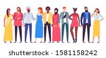 multiethnic people group.... | Shutterstock . vector #1581158242