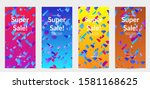 abstract stories templates with ... | Shutterstock .eps vector #1581168625