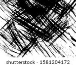 grunge scratched background.... | Shutterstock .eps vector #1581204172