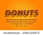 donuts hand drawn decorative... | Shutterstock .eps vector #1581210475