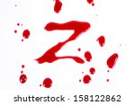 bloody print on a white... | Shutterstock . vector #158122862