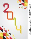 2014 background | Shutterstock .eps vector #158123576