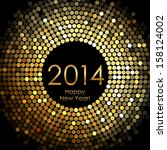 vector   happy new year 2014  ... | Shutterstock .eps vector #158124002