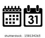 calendar vector icon | Shutterstock .eps vector #158134265