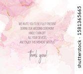 blush pink watercolor fluid... | Shutterstock .eps vector #1581365665