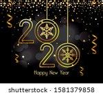 happy new year 2020 design ... | Shutterstock .eps vector #1581379858