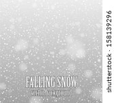 falling snow on the gray - vector image - stock vector