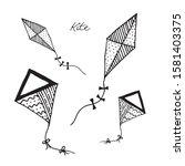 Kite Set Icon Fly Draw Game