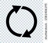 restart arrow refresh reload... | Shutterstock .eps vector #1581406195