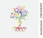 Helix Dna Tree Logo Design...