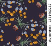 flora and fauna pattern in... | Shutterstock .eps vector #1581463252