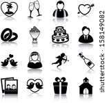 wedding related icons ... | Shutterstock .eps vector #158149082