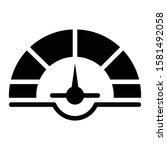 speedometer icon glyph vector...