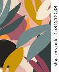 abstract design with nature... | Shutterstock .eps vector #1581512038