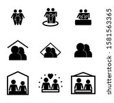family icon isolated sign... | Shutterstock .eps vector #1581563365