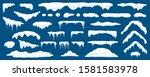 snow caps  snowy ice and frozen ... | Shutterstock .eps vector #1581583978