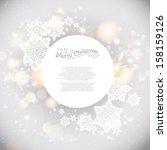 light shining holiday... | Shutterstock .eps vector #158159126