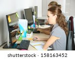business people at work place | Shutterstock . vector #158163452