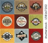 retro set styled label of beer. ... | Shutterstock .eps vector #158167202
