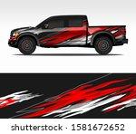 car wrap decal design vector ... | Shutterstock .eps vector #1581672652