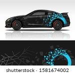 car wrap decal design vector ...   Shutterstock .eps vector #1581674002