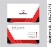 modern and clean business card...   Shutterstock .eps vector #1581715078