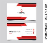 modern and clean business card... | Shutterstock .eps vector #1581715105