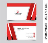 modern and clean business card... | Shutterstock .eps vector #1581715138